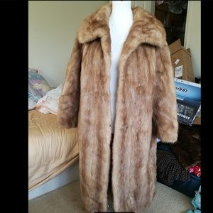 100% Genuine Mink fur coat. full length